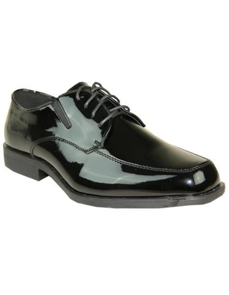 Mens Black Vangelo Tuxedo Shoes