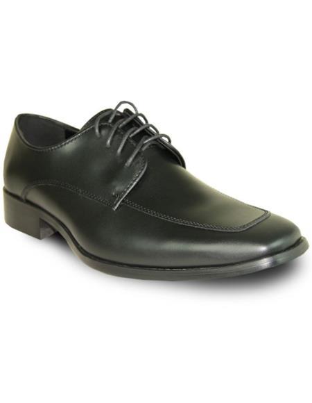 Mens Black Matte Vangelo Tuxedo Shoes