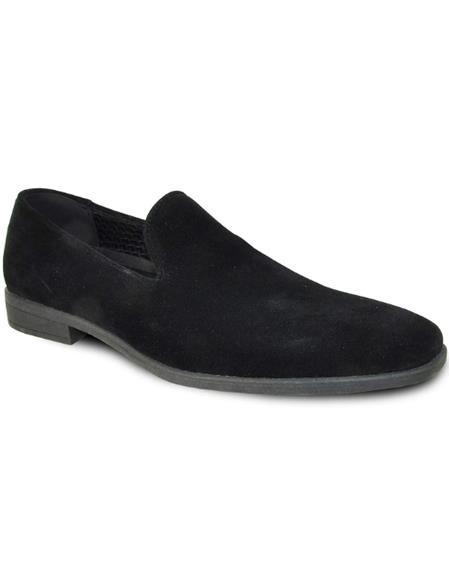 Mens Black Suede Tuxedo Shoes