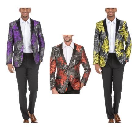 Floral Blazer - Paisley Blazer - Mens Blazer - Sport Coat