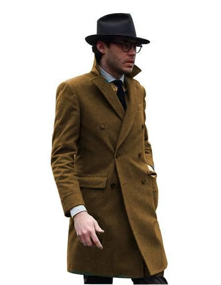 Double Breasted - Three Quarter Coat - Cashmere and Wool Topcoat + Style# Manhattan Ivory