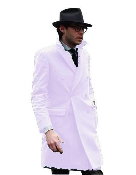 Double Breasted - Three Quarter Coat - Cashmere and Wool Topcoat + Style# Manhattan Cream