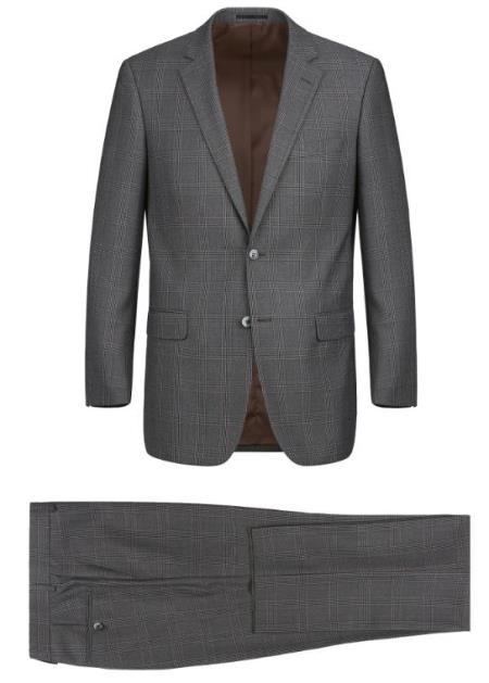 Renoir Marino Classic Fit Suit Style# Plaid Suit - Checkered Suit - Business Suit