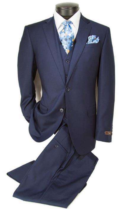 100% Wool Fabric - Slim or Modern Fit Suit - Classic Fit Alberto Nardoni Brand