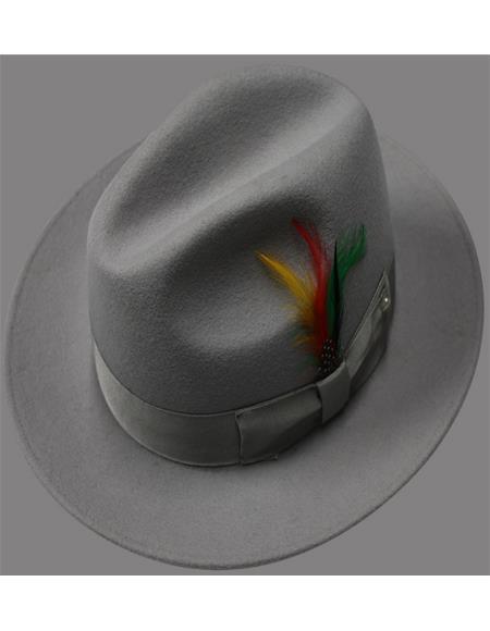 Untouchable Hat - Fedora Mens Hat Silver Gray