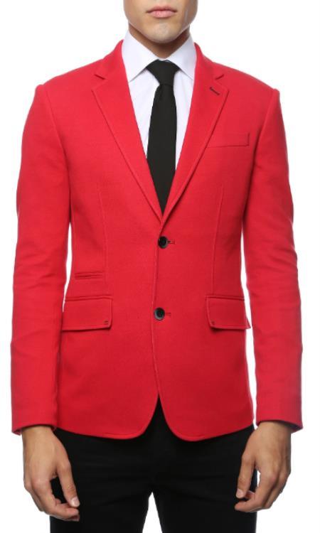 Mens Red Blazer - Red Sport Coat