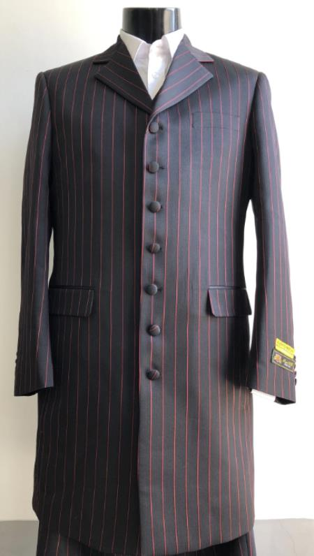 Big And Tall Suit Plus Size Mens Suits For Big Guys Black ~ Red