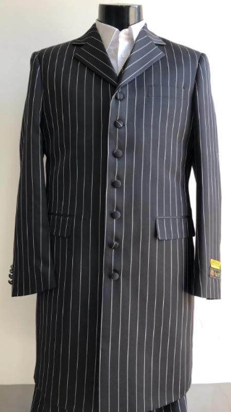 Big And Tall Suit Plus Size Mens Suits For Big Guys Black ~ White
