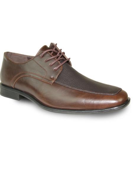 Men's Wide Width Dress Shoe Brown Matte
