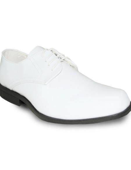Men's Wide Width Dress Shoe White Patent