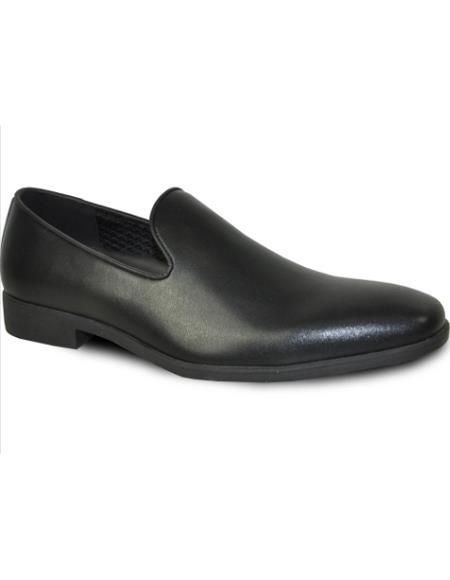 Men's Wide Width Dress Shoe Black Matte