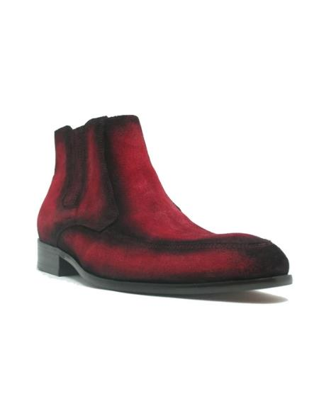 Men's KB478-107S Leather Suede Chelsea Boots