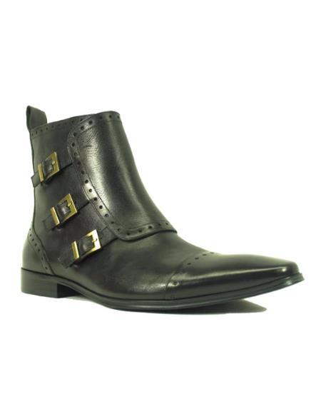 Men's KB8018-16 Monk Strap Zip Boots
