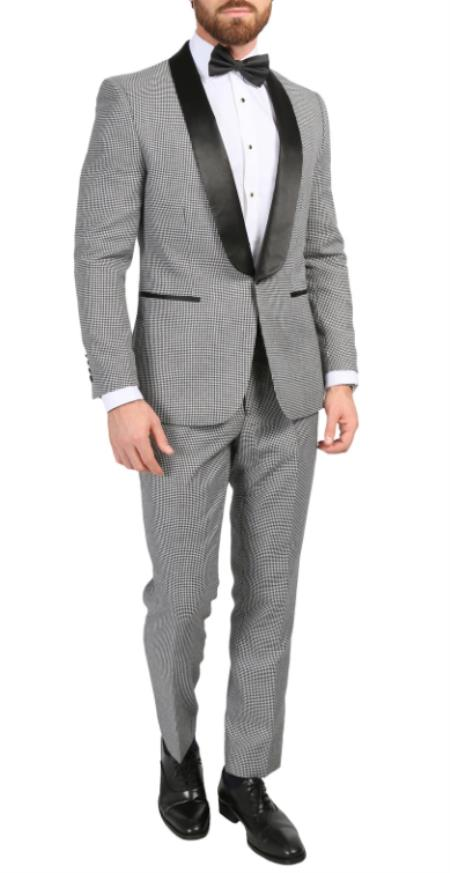 Houndstooth Blazer - Houndstooth Sport Jacket - Slim Fit Blazer