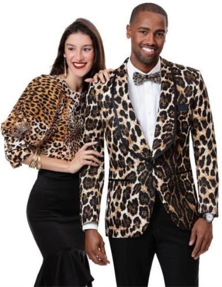 Leopard Blazer - Animal Print Sport Coat