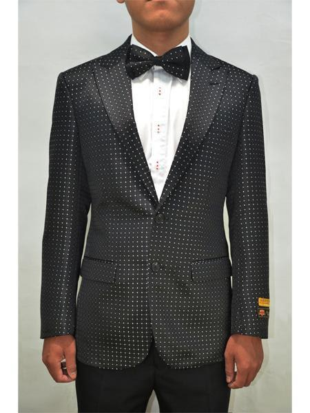 Polka Dot Suit - Polka Dot Blazer + Pants and Bowtie Included