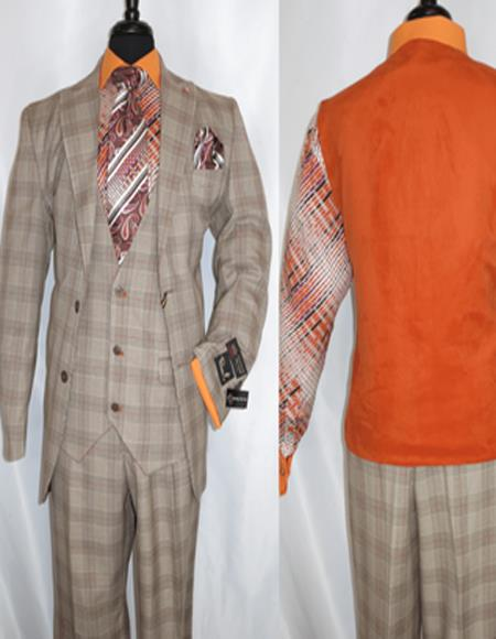 Plaid Suit - Vested Three Piece Suit