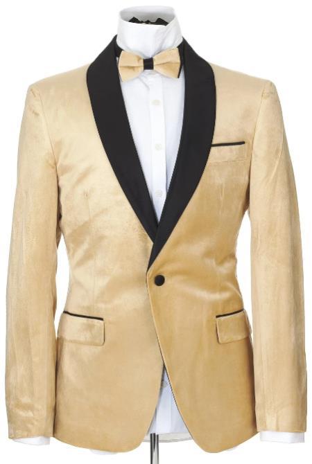 Champagne Velvet Tuxedo - Ivory Dinner Jacket