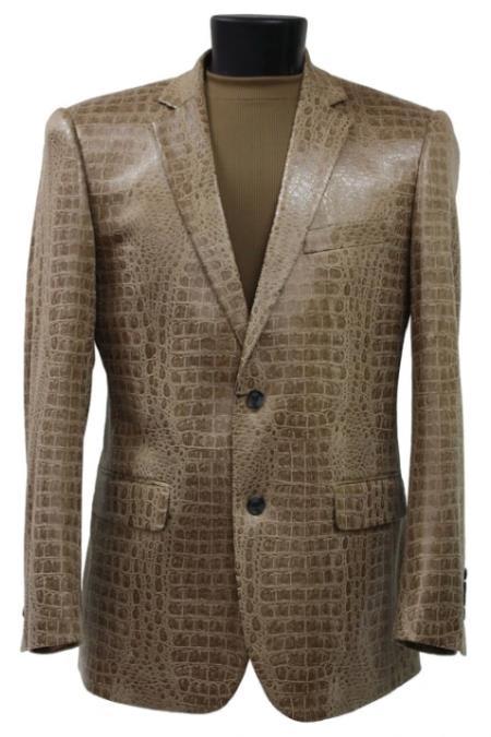 Crocodile Blazer - Alligator Print Sportcoat - Gator Jacket