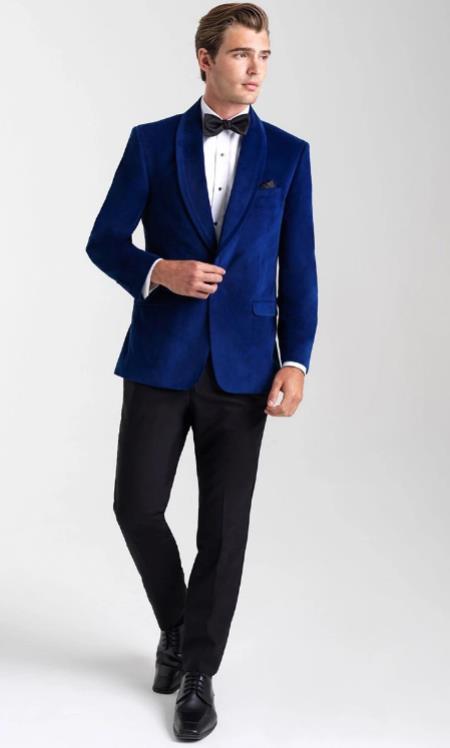 Velvet Blazers - Velvet Tuxedos - Mens Blazers - Shawl Collar Dinner Jacket
