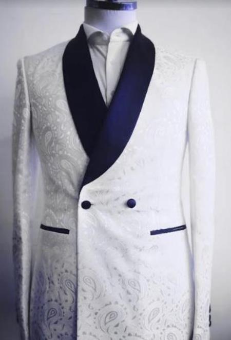 Mens Two Button Shawl Lapel Suit Royal Blue