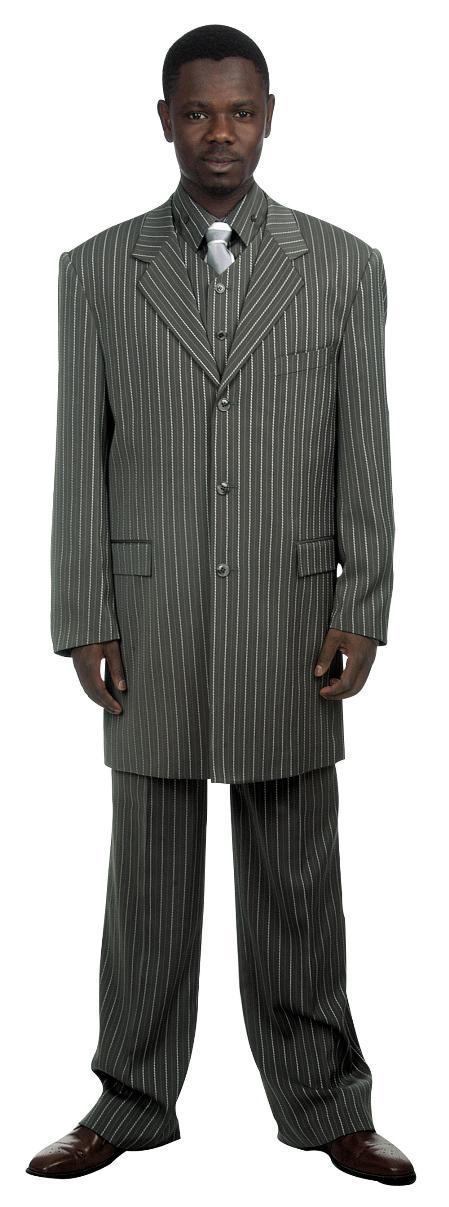 Grey Pinstripe Suit &