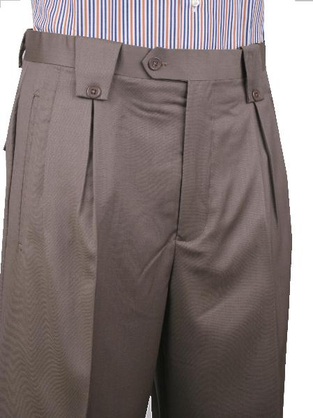 Product# MAF23 Leonardo Valenti Wide Leg Pant Light Brown 1920s 40s Fashion Clothing Look !
