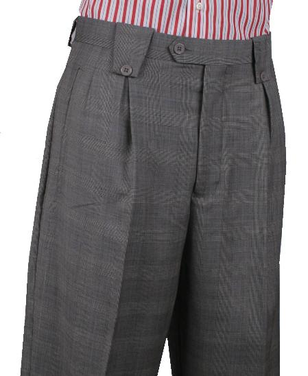 Product# ANZ24 Leonardo Valenti Wide Leg Pant Gray 1920s 40s Fashion Clothing Look !