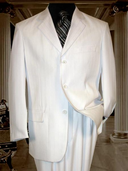 JRT517 MU3TT-10 White tone on tone Pinstripe Shadow Stripe ~ Pinstripe Available in 2 Button Style