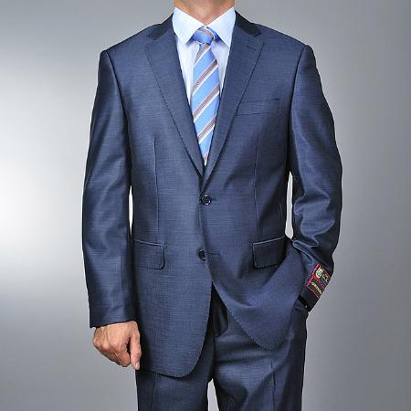 SA1144 Metallic Blue 2-button Suit