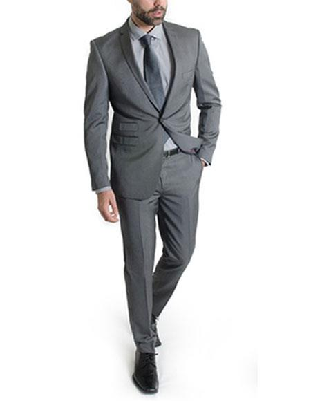 JSM-367 Men's 2 Button Shiny Single Breasted Wine Suit