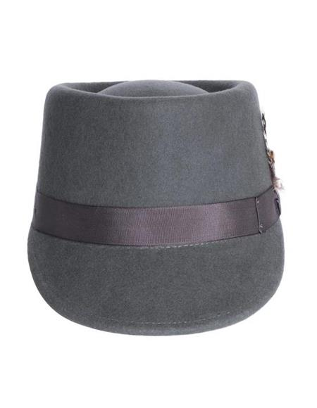 Mens Conductor Hat Charcoal