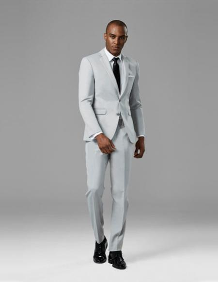 CH2379 Mens Cement Gray best Suit buy one get one suits free Suit