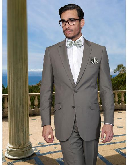 JSM-6870 Mens Sage Light Green Business Suit