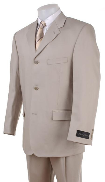 KL14 Tan khaki Color ~ Beige~Light Taupe~Sand Wool Fabric Blend Khaki polyester Summer suit