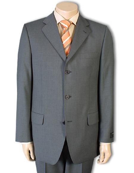 MD023 Mid Gray 100% Pure Wool Fabric