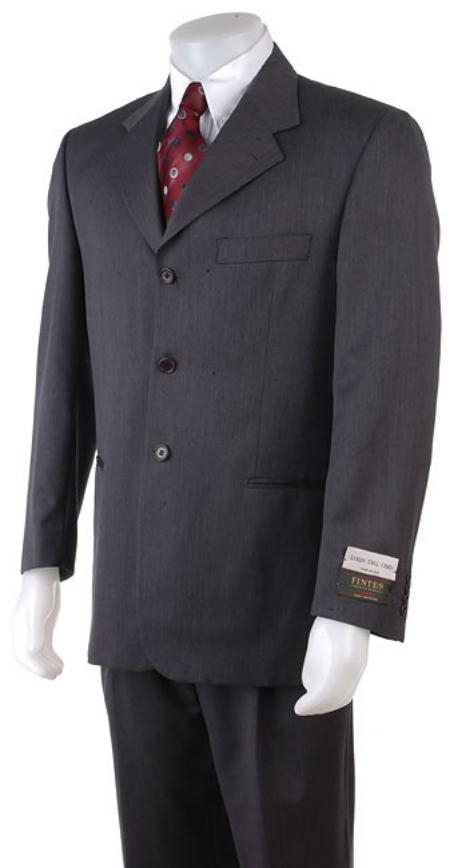 ENG203 English Gray Double Vent 3 Buttons Style Super150's Wool Fabric Suits for Online