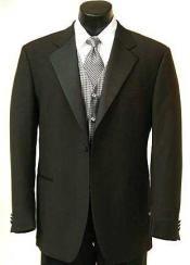 Button Style Tuxedo Satin