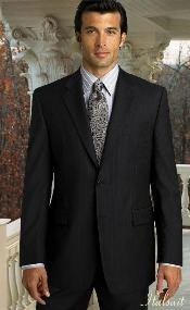 BER_TZ30 2pc 2 Btn Pinstripe Liquid Jet Black Suit