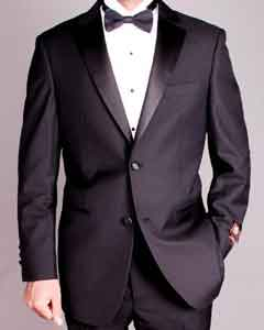 2-button Liquid Jet Black Tuxedo