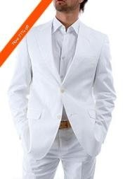 VG9922 2-Button White Suit + White Shirt