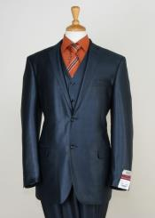 3 Piece Sharkskin Suit Flat