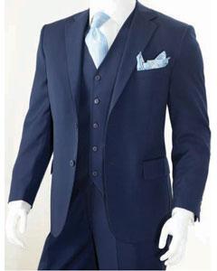 3 Piece Classic Suit Navy