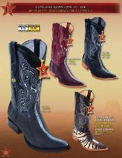 PN_K62  3X Toe Genuine Stingray skin Singlestone Cowboy