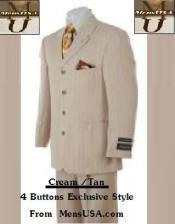 4 Button Style Cream