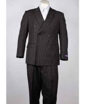 SM1004 Pinstripe Classic Fit 6 Button Peak Lapel Liquid