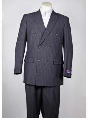 Pinstripe 6 Button Dark Grey