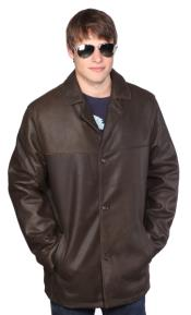 PN_Z47 Alden Leather Jacket Dark brown color shade Available