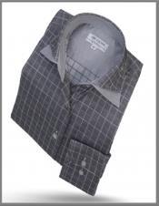 Double Collar Shirt Grey