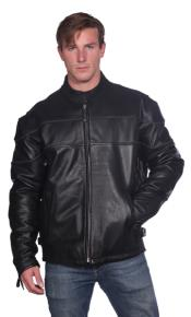 PN_N51 Astor Leather Jacket Liquid Jet Black Available in